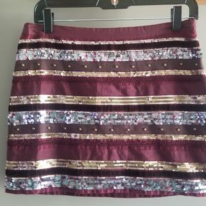 🐠3/$25 Abercrombie & Fitch sequin mini skirt